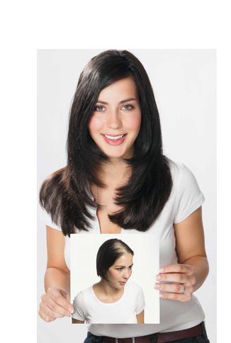 Junge Frau mit Hairdreams Haarverdichtung